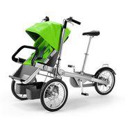 Велосипед мама и ребенок. Велоколяска трансформер Taga Bike.